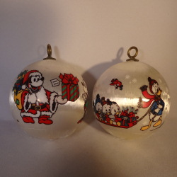 1977 Disney Set Of 2 Hallmark Ornament