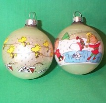 1977 Peanuts Set Of 2 Hallmark Ornament