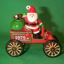 1979 Here Comes Santa #1 - Motorcar - NB Hallmark Ornament