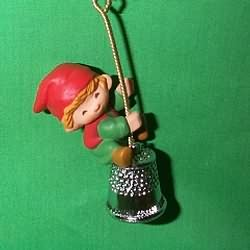 1980 Thimble #3 - Elf - NB Hallmark Ornament