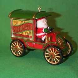 1981 Here Comes Santa #3 - Rooftop Delivery Hallmark Ornament
