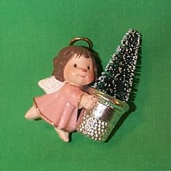 1981 Thimble #4 - Pink Angel - MNT Hallmark Ornament