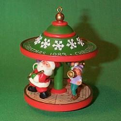 1983 Carousel #6f - Santa - MNT Hallmark Ornament