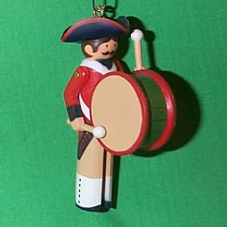 1983 Clothespin Soldier #2 - Early American Hallmark Ornament