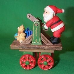 1983 Here Comes Santa #5 - Santa Express - DB Hallmark Ornament