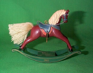 1983 Rocking Horse #3 - Russet - MNT Hallmark Ornament