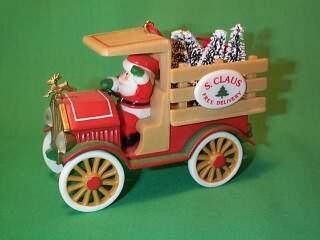 1984 Here Comes Santa #6 - Santa Delivery - NB Hallmark Ornament