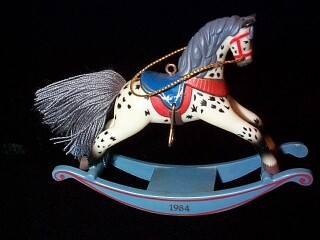 1984 Rocking Horse #4 - Appaloosa Hallmark Ornament