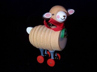 1984 Wood Childhood #1 - Lamb Hallmark Ornament