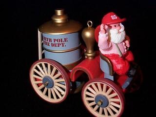 1985 Here Comes Santa #7 - Fire Engine Hallmark Ornament