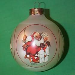1985 Norman Rockwell - Santa Scenes Hallmark Ornament