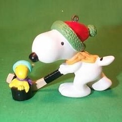 1985 Snoopy And Woodstock Hallmark Ornament