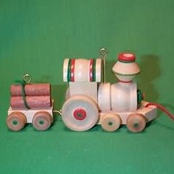 1985 Wood Childhood #2 - Train Hallmark Ornament
