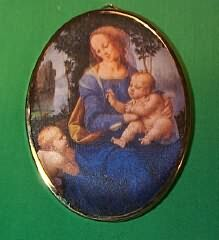 1986 Art Masterpiece #3f - Madonna Hallmark Ornament