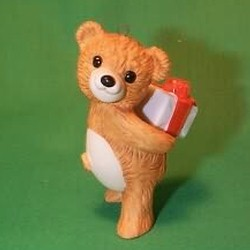 1986 Cinnamon Bear #4 - Gift Hallmark Ornament