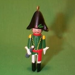 1986 Clothespin Soldier #5 - French Hallmark Ornament