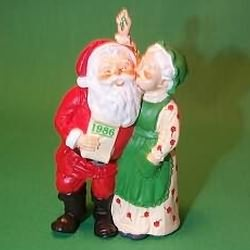 1986 Mr. And Mrs. Claus #1 - Merry Mistletoe Hallmark Ornament
