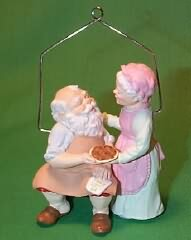 1987 Mr. And Mrs. Claus #2 - Home Cooking Hallmark Ornament