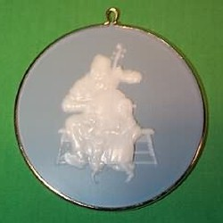1987 Norman Rockwell #8 - Christmas Dance - NB Hallmark Ornament