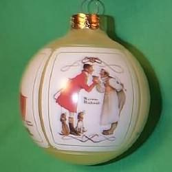 1987 Norman Rockwell - Christmas Scenes Hallmark Ornament