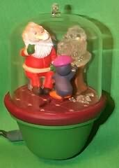 1987 Santa And Sparky #2 Hallmark Ornament