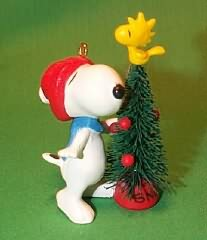1987 Snoopy And Woodstock Hallmark Ornament