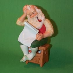 1987 The Toymaker #2 - Blueprint For Christmas Hallmark Ornament
