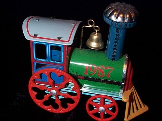 1987 Tin Locomotive #6 Hallmark Ornament