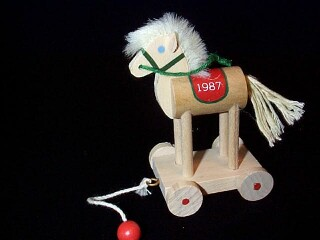 1987 Wood Childhood #4 - Horse Hallmark Ornament