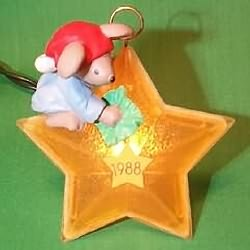 1988 Chris Mouse #4 - Star Hallmark Ornament