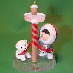 1988 Frosty Friends #9 - North Pole - NB Hallmark Ornament