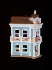 1988 Nostalgic Houses #5 -  Card Shop - SDB Hallmark Ornament