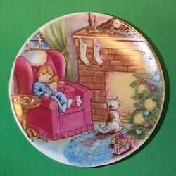 1988 Plate #2 - Waiting For Santa Hallmark Ornament