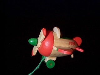 1988 Wood Childhood #5 - Airplane Hallmark Ornament