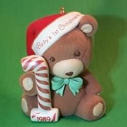 1989 Babys 1st Christmas - Bear Hallmark Ornament