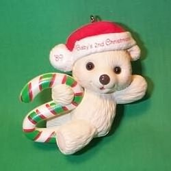 1989 Babys 2nd Christmas - Bear Hallmark Ornament