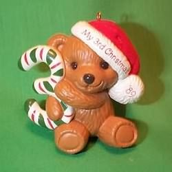 1989 Childs 3rd Christmas - Bear Hallmark Ornament