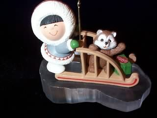 1989 Frosty Friends #10 - Sled - NB Hallmark Ornament