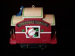 1989 Here Comes Santa #11 - Christmas Caboose - NB Hallmark Ornament