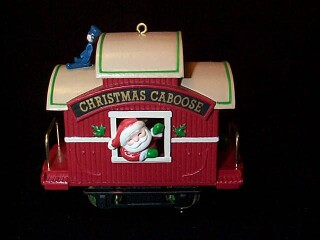 1989 Here Comes Santa #11 - Christmas Caboose Hallmark Ornament