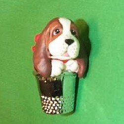 1989 Thimble #12f - Puppy Hallmark Ornament