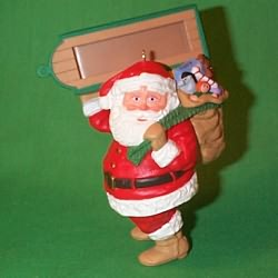 1989 Visit From Santa Hallmark Ornament