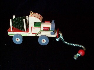 1989 Wood Childhood #6 - Truck Hallmark Ornament