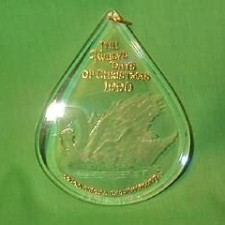 1990 12  Days Of Christmas #7 - Swans Swimming Hallmark Ornament