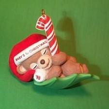 1990 Babys 1st Christmas - Bear Hallmark Ornament