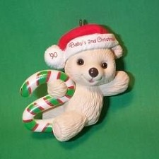 1990 Babys 2nd Christmas - Bear Hallmark Ornament