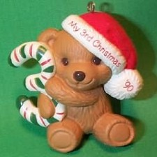 1990 Childs 3rd Christmas - Bear Hallmark Ornament
