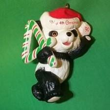 1990 Childs 4th Christmas - Bear Hallmark Ornament