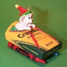 1990 Crayola #2 - Sled Hallmark Ornament