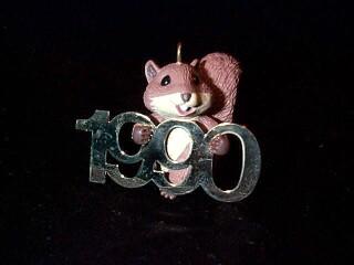 1990 Fabulous Decade #1 - Squirrel Hallmark Ornament